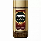NESCAFE Gold. Натуральн. растворим. сублимир. кофе с доб. натуральн. жареного молот. кофе (стекло)190 г